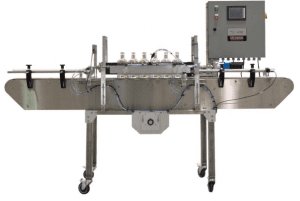Bottle Rinser With Liquid Or Ionized Air To Supply Fillers