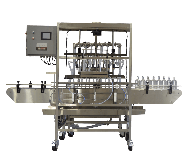 Pressure Overflow Filler from Inline Packaging for non carbonated filling